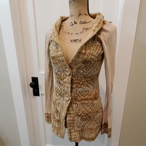 BKE button cardigan size small